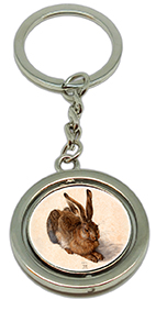 Keychain, Duerer, A Young Hare & Signature