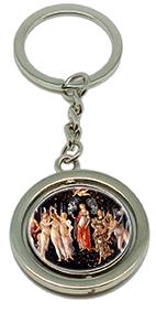 Keychain, Botticelli, La Primavera & Detail