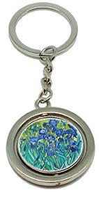 Keychain, Van Gogh, Irises & Irises Detail