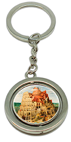 Keychain, Bruegel, Tower of Babel & Detail