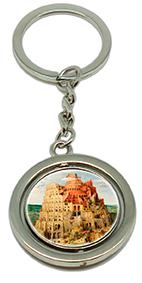 Keychain, Bruegel, Tower of Babel & Detail